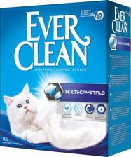Наполнитель кошачий Ever Clean Multi Crystals без запаха с углем 6 кг