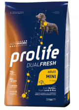 Prolife Dual Fresh Adult Mini корм для собак мелких пород ягненок, буйвол и рис 2.5 кг
