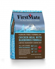 FirstMate Chicken Meal With Blueberries сухой корм для собак Курица, голубика для всех пород 2.3 кг