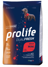 Prolife Dual Fresh Adult Mini корм для собак мелких пород говядина, гусь и рис 2.5 кг
