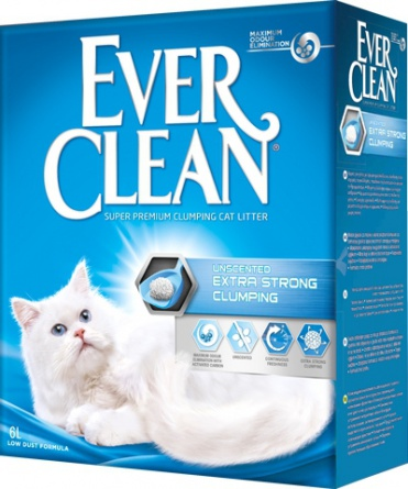 Ever Clean Extra Strong Clumping Unscented наполнительдля лотков без запаха 6 кг фото 2